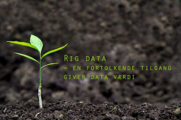 Rig data – en fortolkende tilgang giver data værdi
