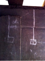 Chalk drawing of electricity socket